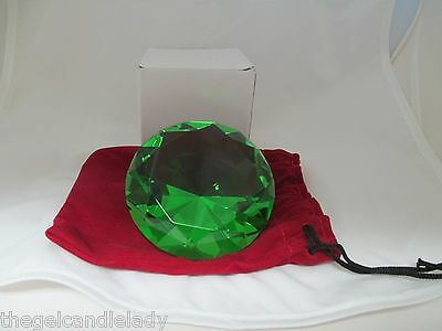 Fake Faux Crystal Emerald Photo Prop Girls Jewelry Store Display Glass Gem