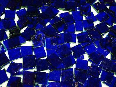 """100 1/2"""" Blue Wissmach Stained Glass Mosaic Tiles Tile"""
