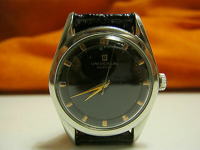 UNIVERSAL GENEVE AUTOMATIC BUMPER POLEROUTER VINTAGE SWISS MADE WRISTWATCH