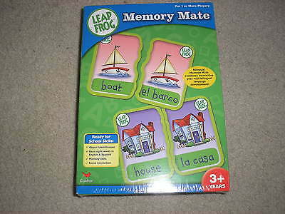 Brand New Factory Sealed Leap Frog Memory Mate Spanish English Matching Game