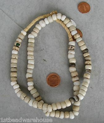 Padre Beads Old White 25 beads from African Trade Antique