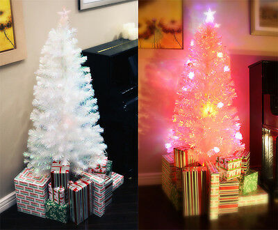 6 FT PRE-LIT MULTI COLOR LED & FIBER OPTIC CHRISTMAS TREE - BRIGHT WHITE TOPPER
