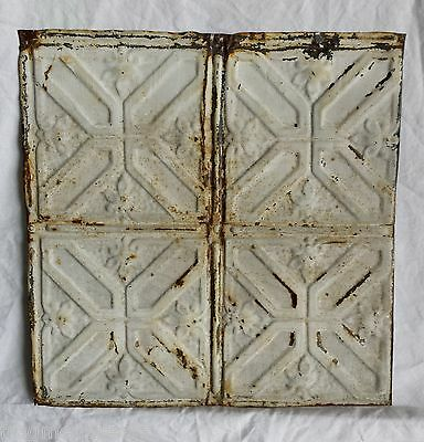"12"" x 12"" Antique Tin Ceiling Tile *SEE OUR SALVAGE VIDEOS* Vintage Stone Ta8"
