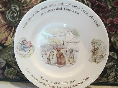 MRS. TIGGY-WINKLE ~ WEDGWOOD ~ BREAD & BUTTER PLATE   ~  MADE IN ENGLAND