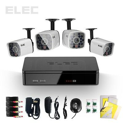 ELEC® 4 Channel HDMI CCTV DVR Outdoor Home Night Video Security Camera System