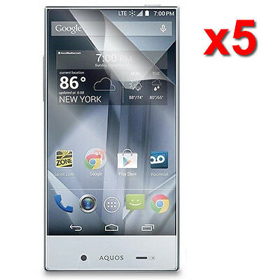 5X Crystal Clear LCD Screen Protector Film For Sharp Aquos Crystal 306SH Phone