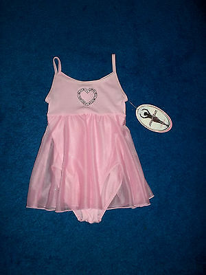 Girls Pink Blue Heart Moret Dance Skate Leotard Outfit Size 4 - 5 Xsmall Nwt