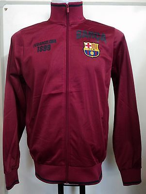 Barcelona Zip Thru Track Top Adults Size Xl Official Merchandise Brand New