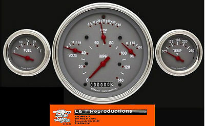1957 Chevy Classic Instruments Gauges 3 Gauge Set Made In USA
