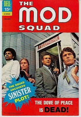 MOD SQUAD, THE # 4  PEGGY LIPTON & CLARENCE WILLIAMS III ON COVER!