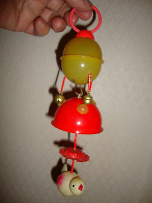 """made in occupied japan wind up toy  for crib mobile  hanging  9"""" plastic"""