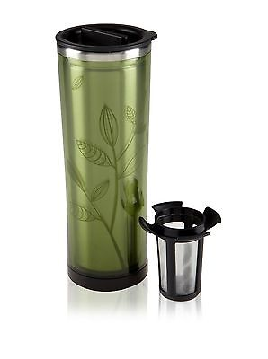 Takeya Double Wall Travel Stainless Steel Tea Coffee Tumbler Removable infuser