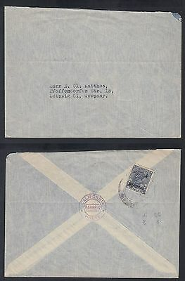 1935c Bahrain Cover to Germany, bearing India 3a6p blue [ca499]