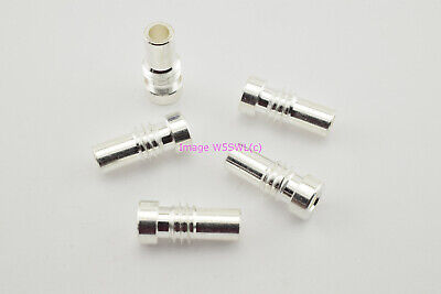 SILVER PL-259 UG-175 Reducer use with RG-58 Coax Cable - 10 Pieces - by W5SWL ®