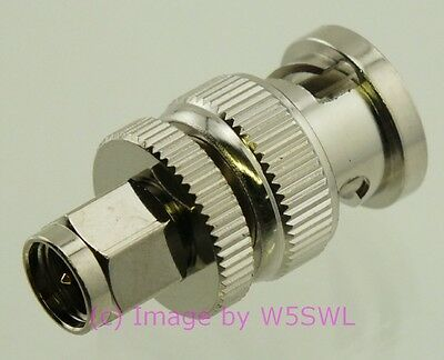 SMA Male to BNC Male Coax Adapter Connector - by W5SWL ®