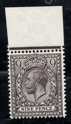 GV - SG392. 9d Agate. Unmounted mint top marginal example with RPS certificate.