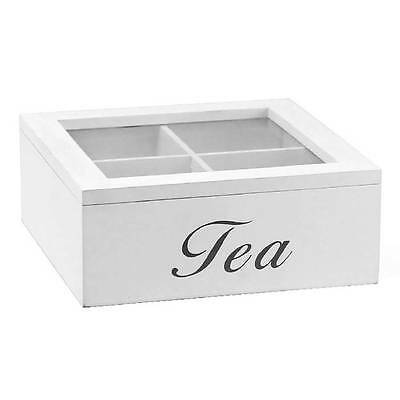 Beautiful Wooden Vintage Style 4 section Tea Storage Box LP25054