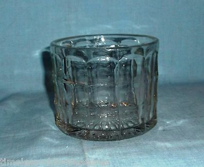 """candy bowl planter decorative clear pressed glass 3 1/4"""" and 4"""" across"""