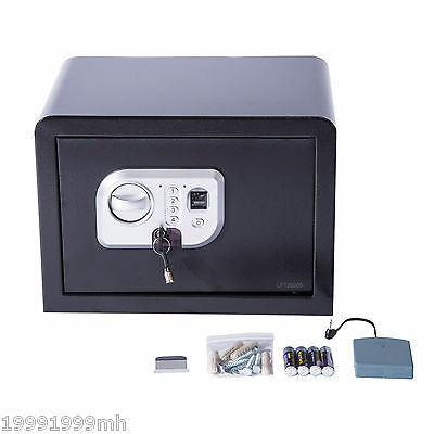 Digital Fingerprint Safe Box Electronic Security Wall Mount Gun Cash Home Office