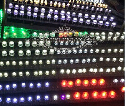 Ultra-Bright F3/F5/F10 Red,Blue,White,Green,Yellow LED Light Lamp Emitting Diode