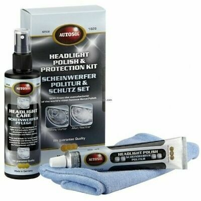 Kit Pulimento Y Protector Para  Faros Autosol Headlight Polish And Protect