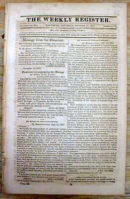 1812 newspaper w detailed numbers & History of THE SLAVE TRADE in The AMERICAS