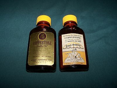 1950s EASTERN AIRLINES COPPERTONE DONT BE A PALEFACE SUNTAN LOTION SAMPLE BOTTLE
