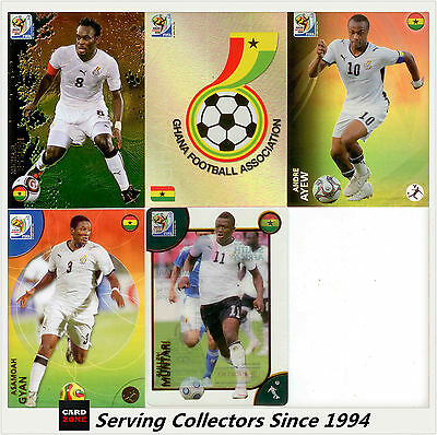5 2010 Panini South Africa World Cup Soccer Cards Team Set Danmark