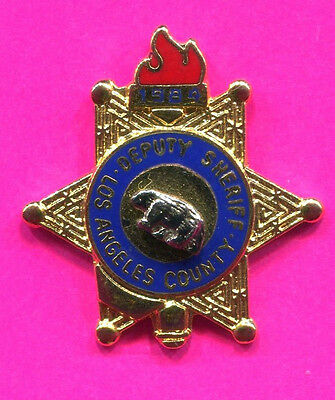 LOS ANGELES CO, DEPUTY SHERIFF BADGE PIN 1984 OLYMPIC PIN  UNDER 500 MADE
