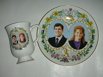 Coalport Plate and Mug - Marriage of Andrew and Fergie - 1986