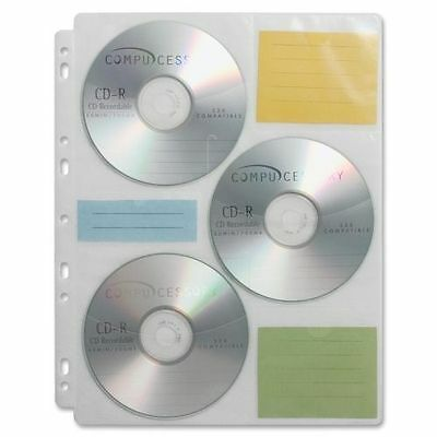 Compucessory CD/DVD Ring Binder Storage Pages - 6 CD/DVD - 25 / Pack CCS22297
