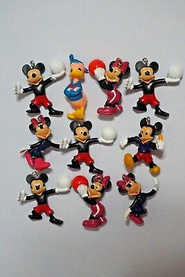 10 x Mickey Minnie Mouse Donald Duck Jewelry Making Figure Charm Pendant + CHARM