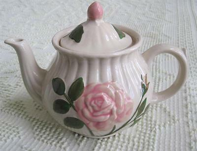 Shawnee Pottery Embossed Pink Rose 6 Cup Teapot