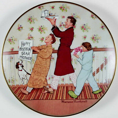 Norman Rockwell Happy Birthday Mother Plate 1978  AMERICAN FAMILY SERIES