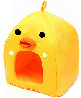 Soft Yellow Duck Pet Dog Cat Bed House Kennel Doggy Warm Cushion Removal Basket