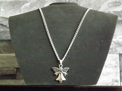 """10 Silver Plated 18"""" Necklaces with ANGEL Pendants Wholesale Jewellery Job Lot"""