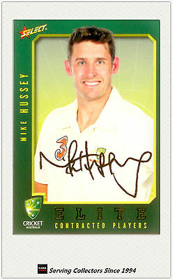 2008-09 Select Cricket Contract Player Foil Signature Card FS12 Mike Hussey