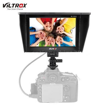 "VILTROX DC70Ⅱ 7"" Clip-On LCD HD Video Monitor AV for Canon Nikon DSLR Camera DV"