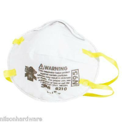 Dust Mask Mist Particulate Particle Sanding Insulation Respirator 3M 8210PB1 N95