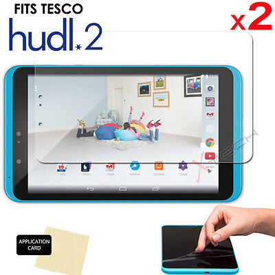 """2 x CLEAR LCD Screen Protector Cover Guards for Tesco HUDL 2 (8.3"""" HUDL2 Tablet)"""