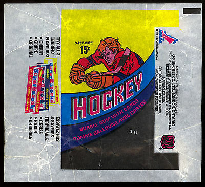 1978-79 OPC O-PEE-CHEE NHL HOCKEY CARD WAX PACK WRAPPER 15 cent MIKE BOSSY RC YR