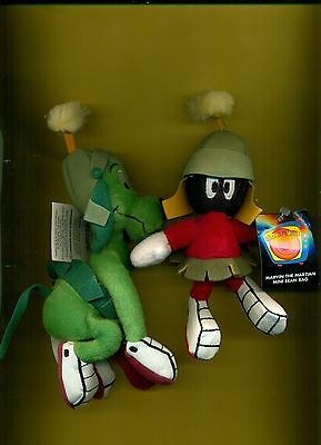 Marvin Martian K-9  mini bean bag set Looney Tunes Warner Store  new with tags