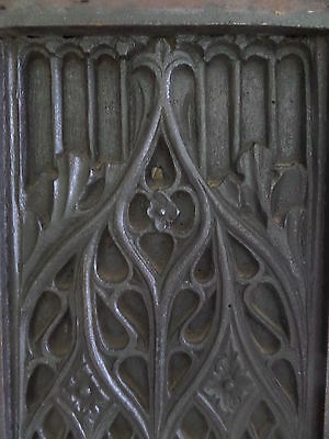 17th Century Carved Oak Tracery Gothic Church Panel