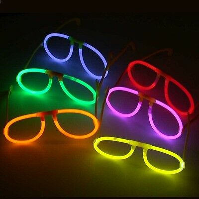 Glow In Dark Glasses Boy Girl Birthday Party Bag Xmas Christmas Stocking Filler