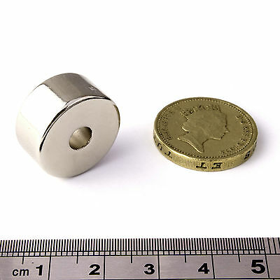 Strong Neodymium Magnets (OD.20mm x ID.5.2 x 10mm)*Pull force 10Kg*Powerful Ring
