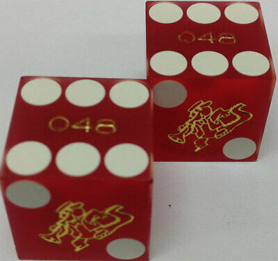 Casino Dice - Orleans Hotel Pair Used Matched Dice Las Vegas Nv - Free Shipping*