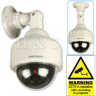 Top Quality Fake Dummy CCTV Security Camera Flashing LED Indoor Outdoor Dome New