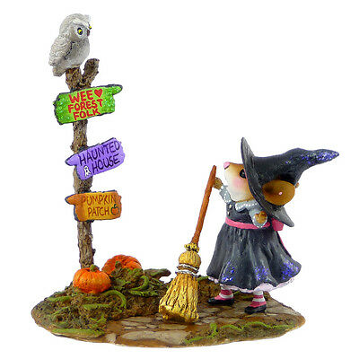 WHICH WAY WITCH by Wee Forest Folk, WFF# M-482a, Limited Edition 2014