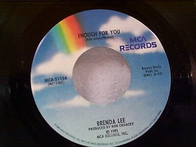 "BRENDA LEE ""ENOUGH FOR YOU / WHAT AM I GONNA DO"" 45"