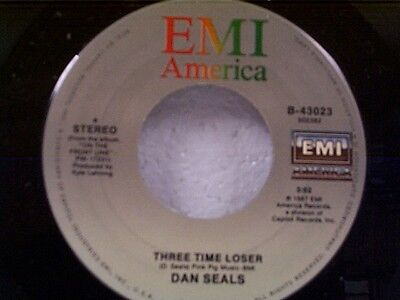 """DAN SEALS """"THREE TIME LOSER / ON THE FRONT LINE"""" 45 MINT"""